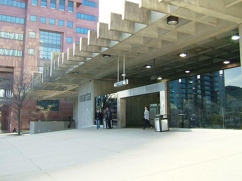 """""""Midtown MARTA Station - Peachtree Place entrance"""" by DeKalb at en.wikipedia. Licensed under CC BY-SA 3.0 via Commons - https://commons.wikimedia.org/wiki/File:Midtown_MARTA_Station_-_Peachtree_Place_entrance.jpg#/media/File:Midtown_MARTA_Station_-_Peachtree_Place_entrance.jpg"""